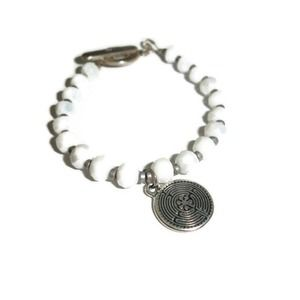 """Labyrinth Bracelet with toggle clasp 8"""""""